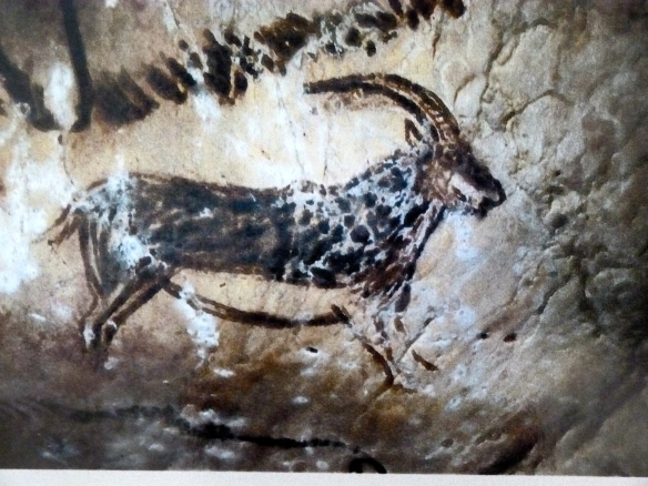 Painting of Ibex, Salon Noir, Grotte de Niaux