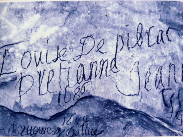 17th century graffiti, Grotte de Niaux