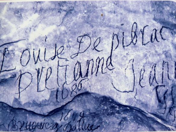 17th century graffiti, Grotte de Niaux