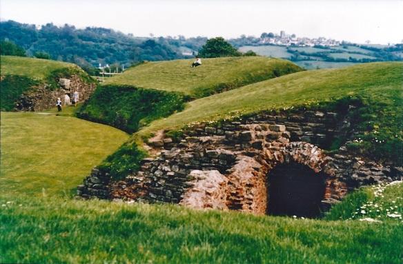 Roman Amphitheatre, Caerleon, 1979.