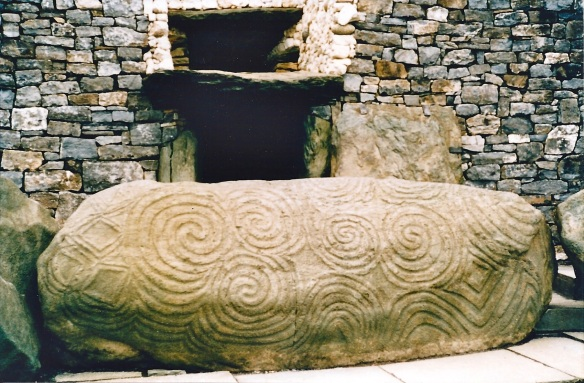 Entrance to Newgrange, County Meath, Ireland