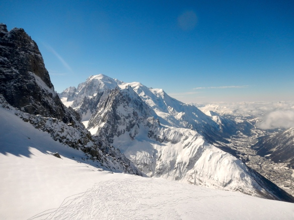 Mont Blanc seen from Aiguille des Grands Montets