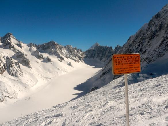 Glacier des Rognons and Glacier d'Argentiere.