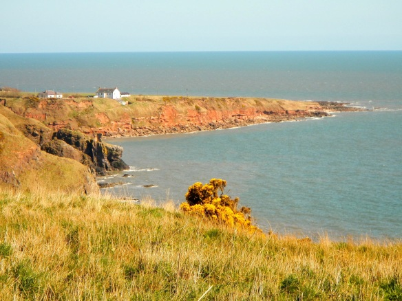The Kaim of Mathers and the village of West Mathers (on the headland beyond)