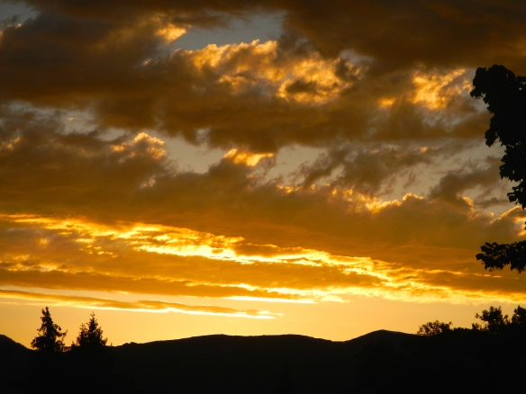 Sunset over the Juras 24 May 2014
