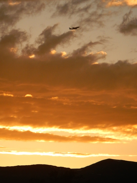 Ending of one day, beginning of the flight to the next............
