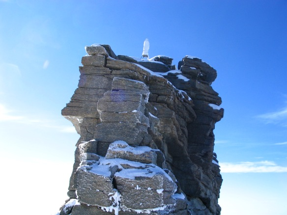 A fine weather view of the summit (from the internet)