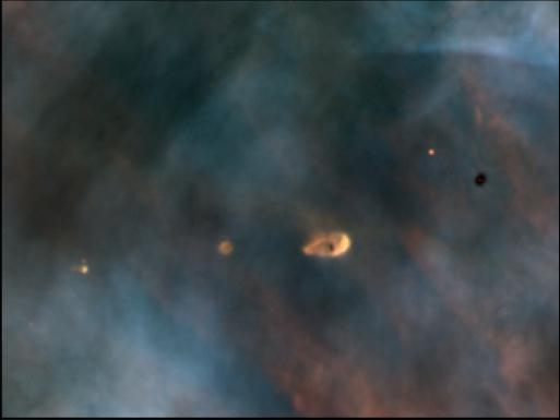 A protoplanetary disk in the Orion Nebula