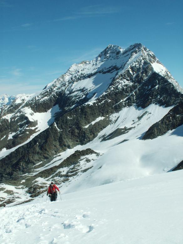 Looking down towards the glacier