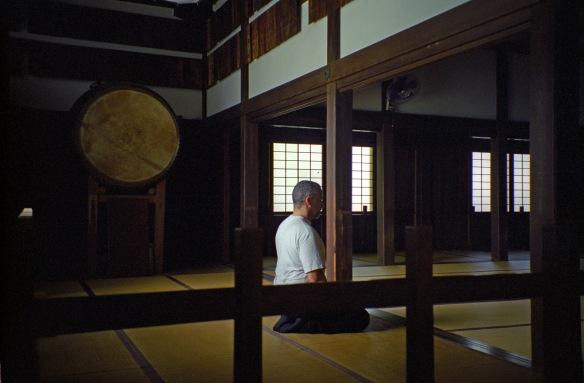 In the hojo at Kencho-ji