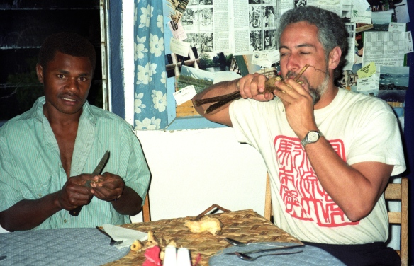 Chewing the kava root