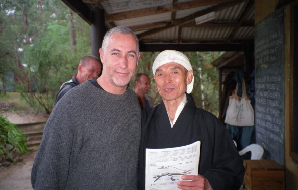 Hogen-san and myself, following the Jukai ceremony, 1998.