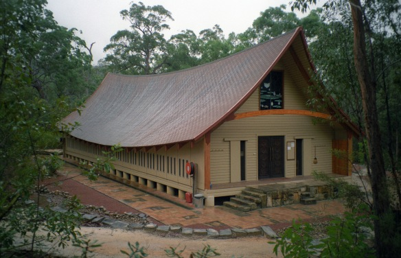 The Sala (zendo) at Wat Buddha Dhamma.