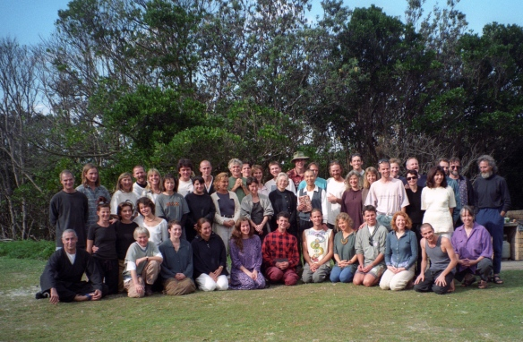 Sesshin participants, Ballina 1995. Hogen-san is in the centre of the middle row, I am on the far left.