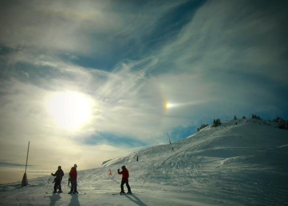 Sundog over the Jura Mountains, January 2015