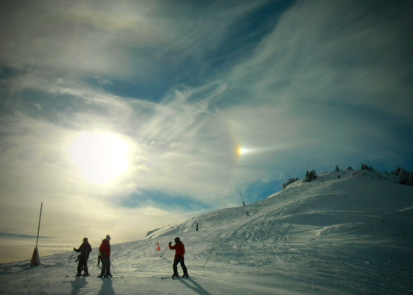 Sundog over the Jura Mountains, January 2015