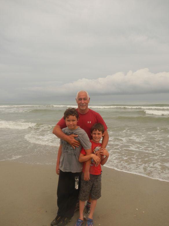 On the beach at Ocean Isle, North Carolina, July 2014