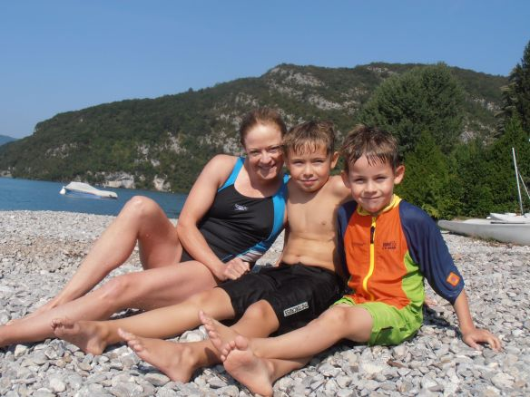 On the beach at Talloires, Lake Annecy 2012