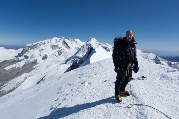 On the summit of Breithorn (4164m or 13662 ft).