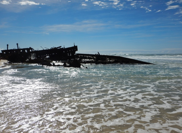 The wreck of the Maheno