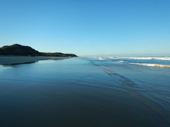 On 75 Mile Beach close to sunset
